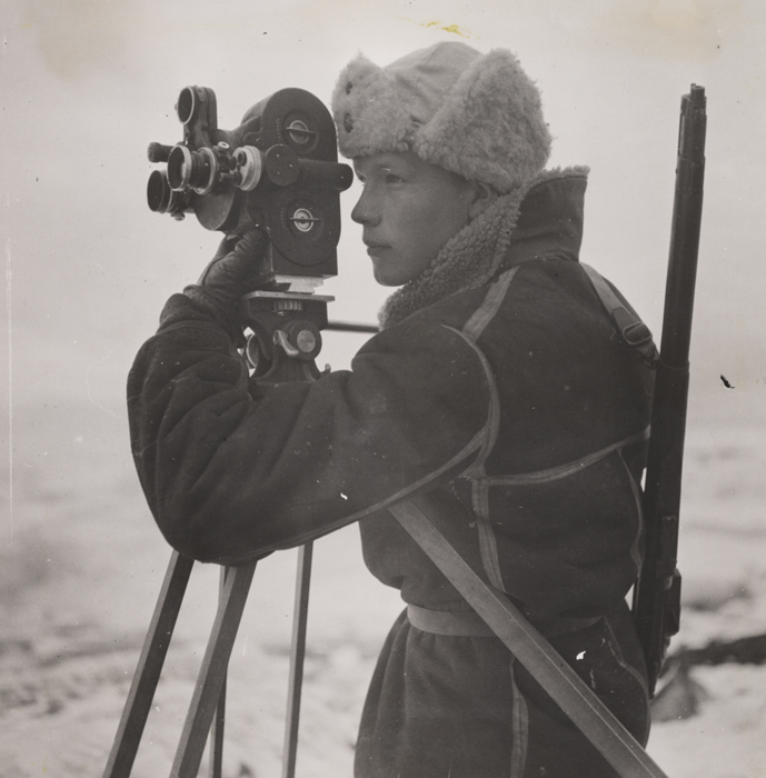 Photo: Photographer Mattis Mathiesen at work on Jan Mayen, anonymous From the Daily Herald Archive at the National Media Museum, via Flickr Commons.