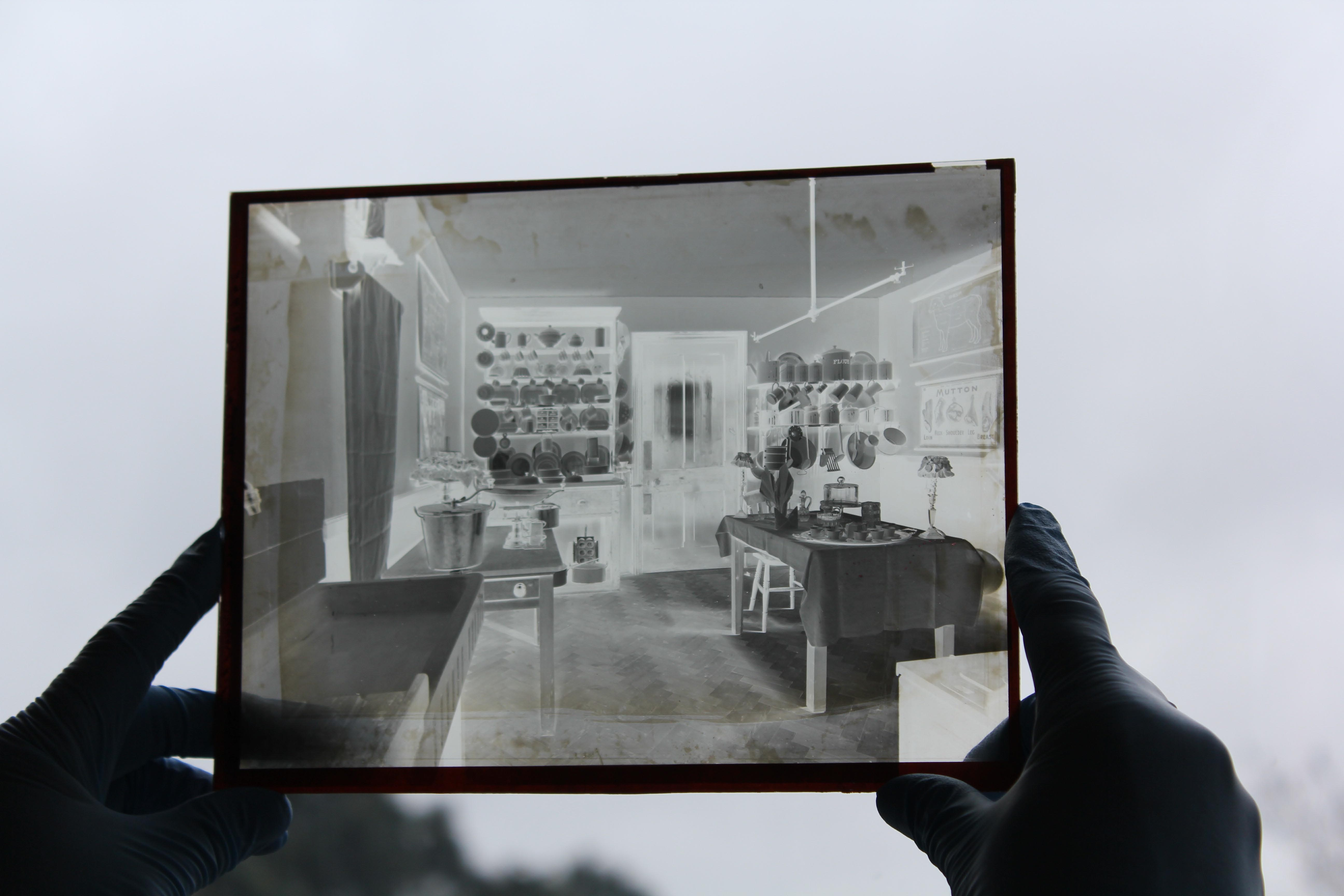 Glass plate photography silhouette